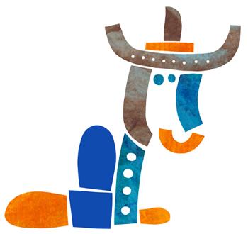 Jacinthe Chevalier animal en morceaux chapeau