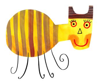 Jacinthe Chevalier animaux gouache