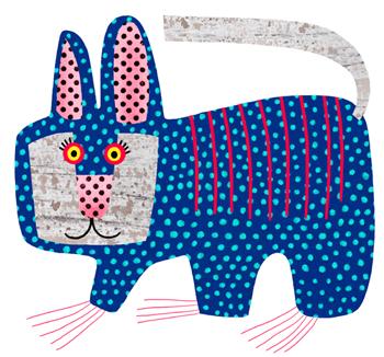 Jacinthe Chevalier lapin rabbit bleu blue ronds picos picoté oreilles animal