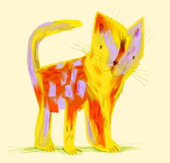 Jacinthe Chevalier chat cat beige jaune miaw minou chaton