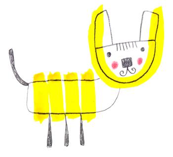 Jacinthe Chevalier animaux jaune