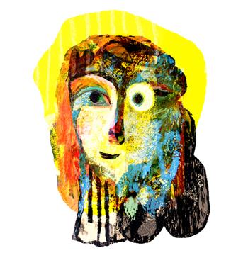 Jacinthe Chevalier madame woman soleil sun head tête idée lumière rayon lumineux