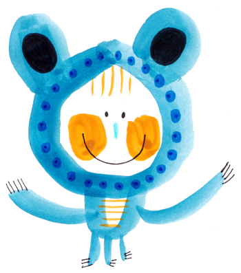 Jacinthe Chevalier animaux bleu