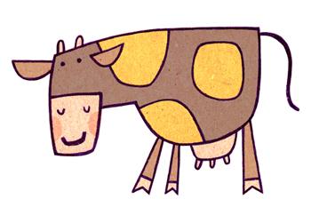 Jacinthe Chevalier vache animal tache jaune ferme