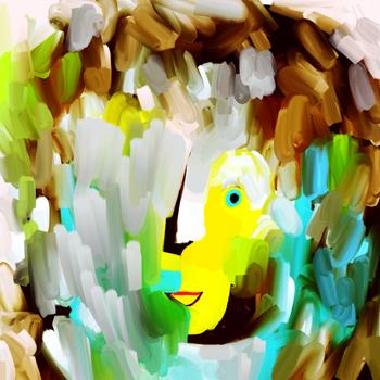 Jacinthe Chevalier visage corel painter peinture couleurs