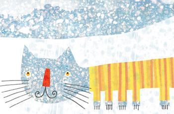 Jacinthe Chevalier aujourdhui le ciel éditions isatis chat animal bleu neige froid illustration prix gouverneur général littérature