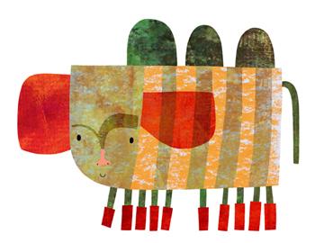 Jacinthe Chevalier chenille chameau elephant rouge vert bottes