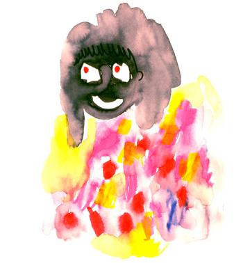 Jacinthe Chevalier portrait visages couleur gouache crayons portrait