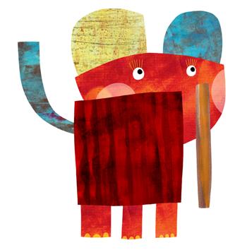 Jacinthe Chevalier animaux animal couleurs morceaux pieces texture elephant rayure