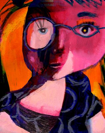 Jacinthe Chevalier personnage rose rouge mauve